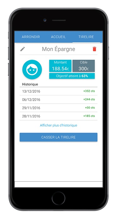 birdycent application mobile epargne