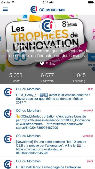 application CCI du Morbihan