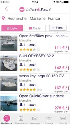 image clic and boat