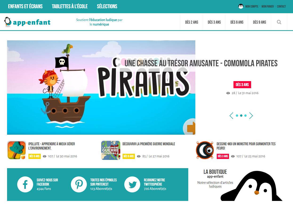 application ludo éducative App-enfant.fr