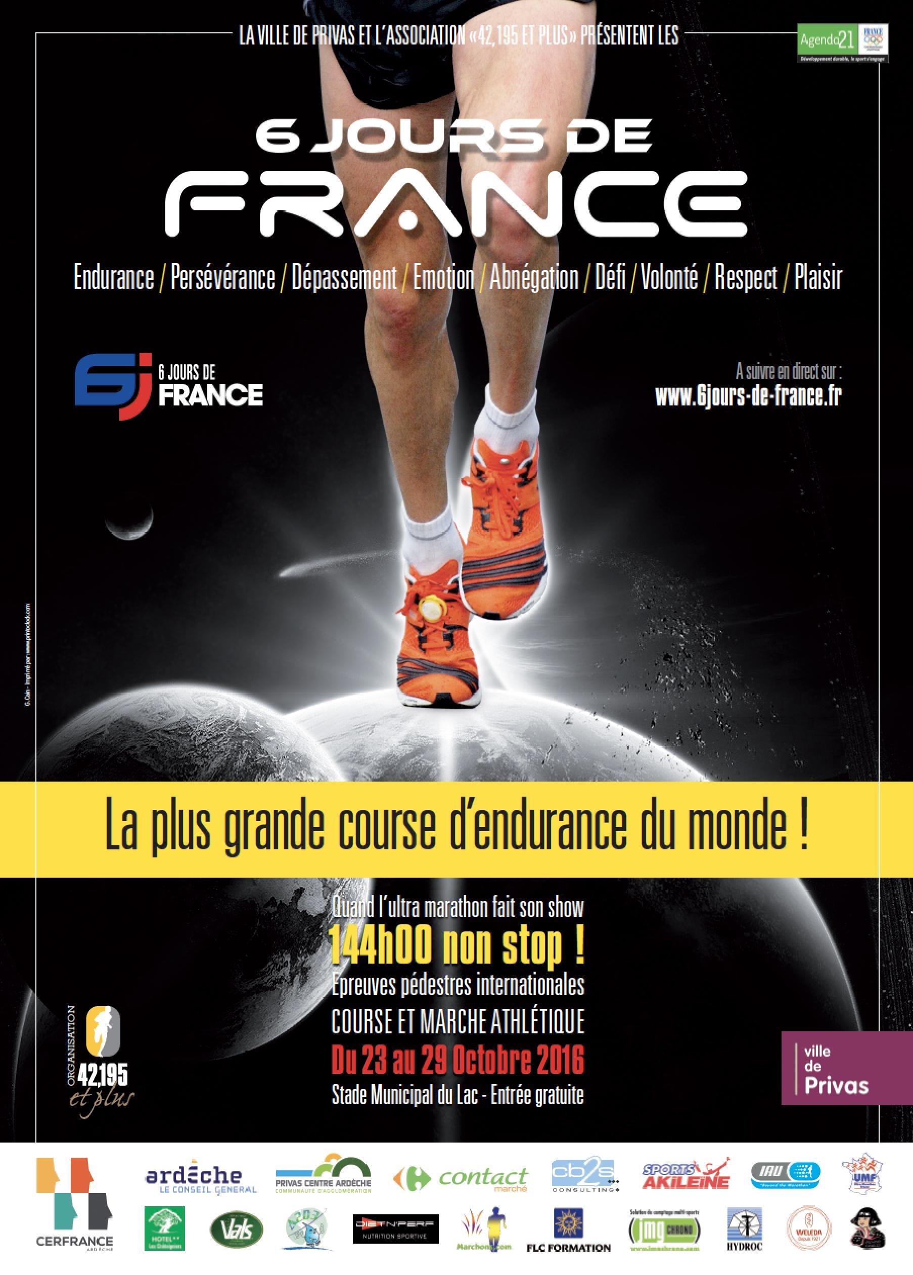 course d'endurance Les 6 jours de France