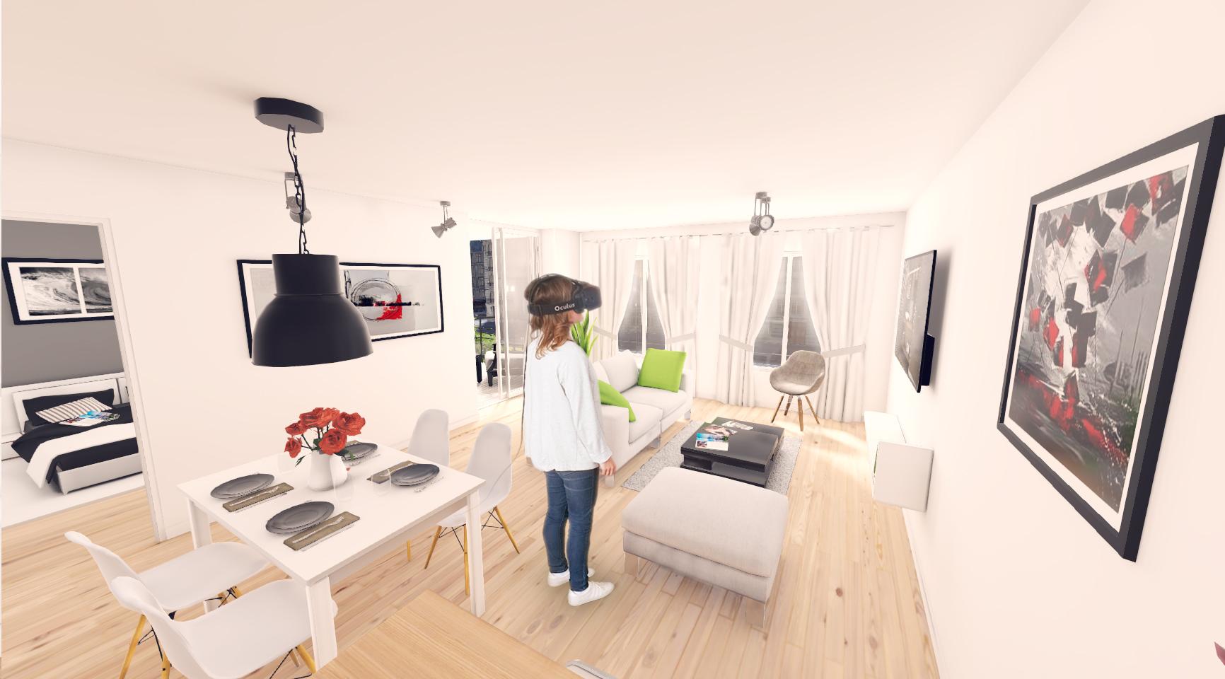 réalité virtuelle visimmo 3d