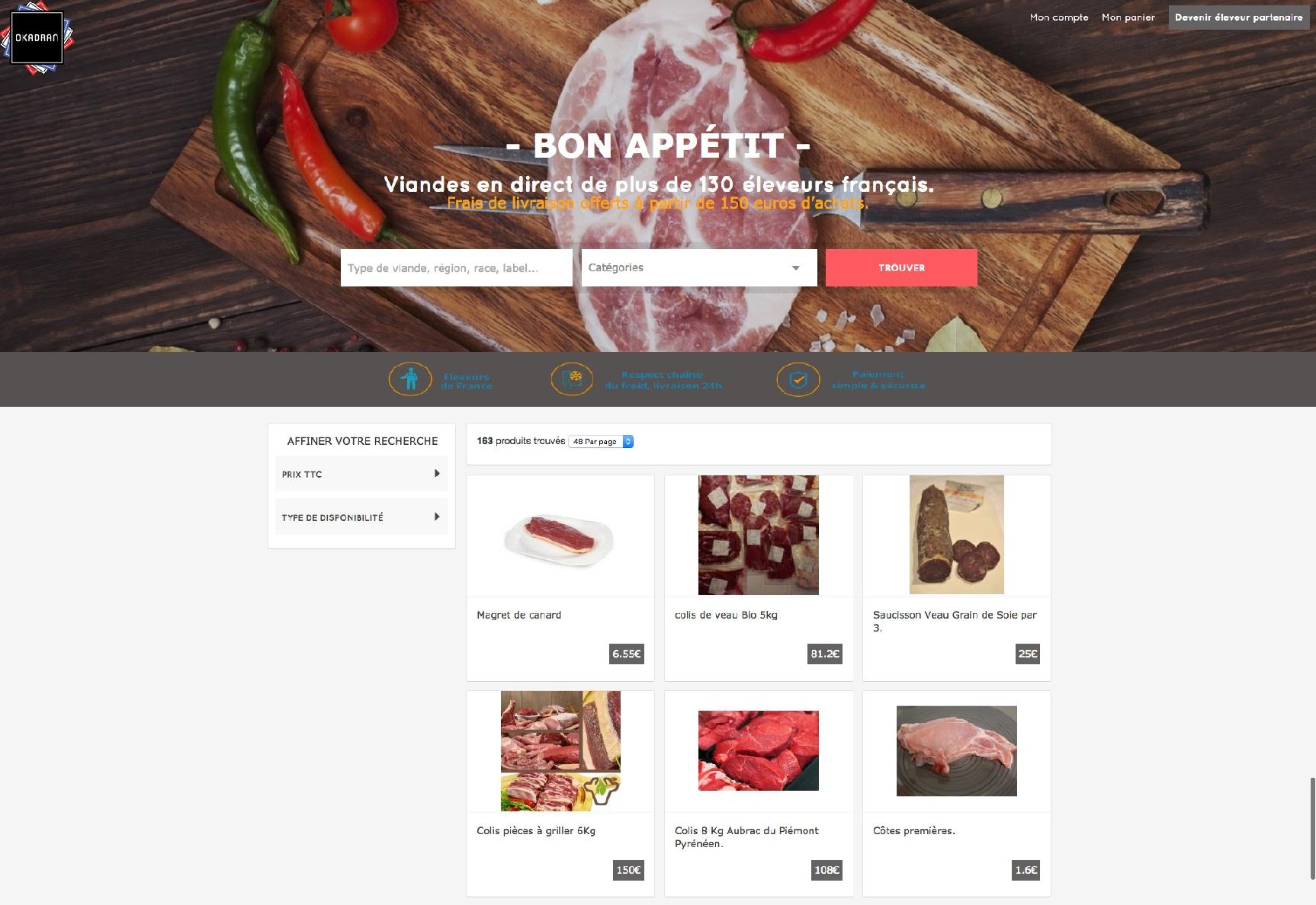 vente directe de viande okadran.fr
