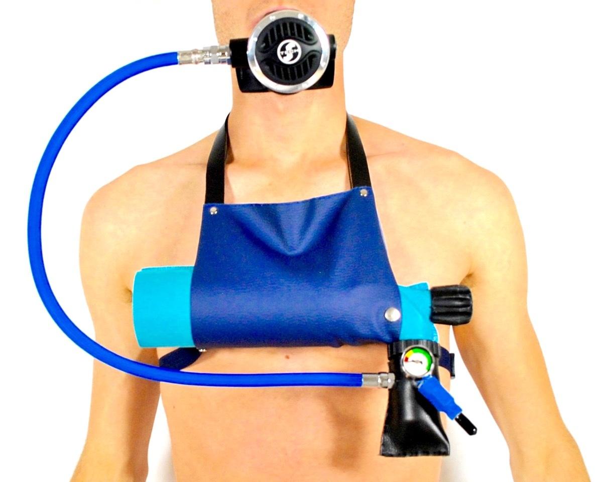 MiniDive mini bouteille de plongée rechargeable avec une pompe manuelle