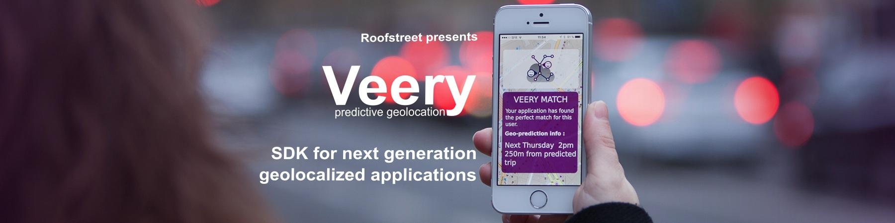 veery Software Development Kit géolocalisation prédictive