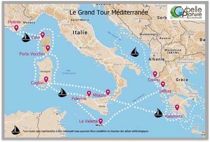 especes marines Grand Tour méditerranée cybelle planete