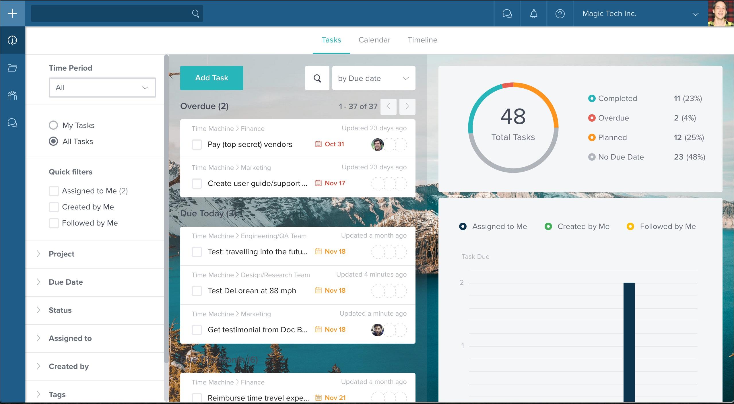 Taskworld est un outil collaboratif d'aide à la gestion de projet