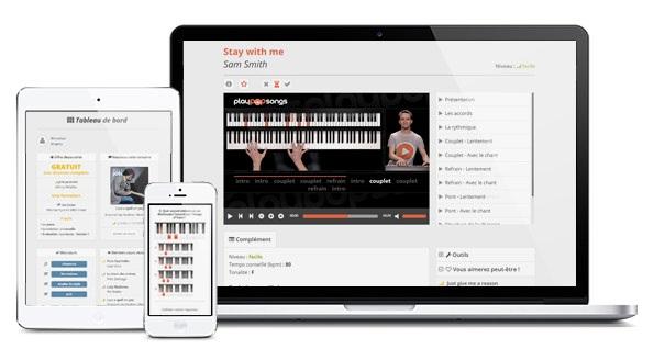plateforme de tutoriels vidéo pour piano PlayPopSongs