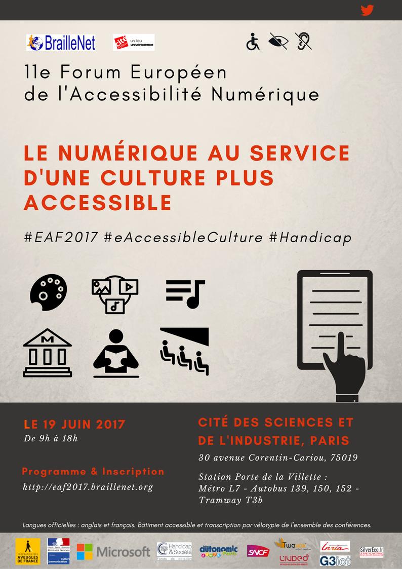 11e Forum Européen de l'Accessibilité Numérique