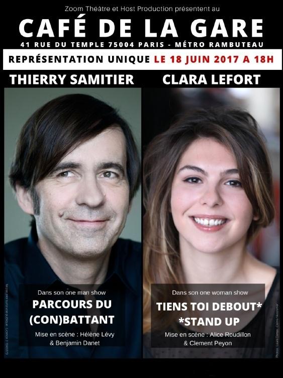 affiche Thierry Samitier et Clara Lefort au Café de la Gare