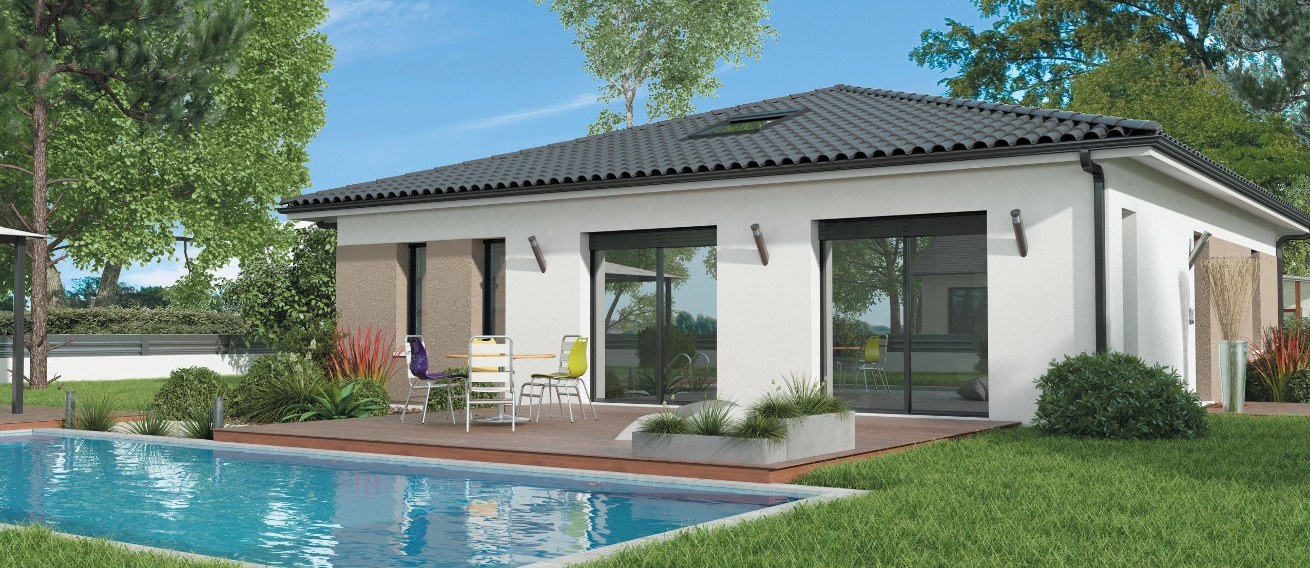 maison verte construction horizontale
