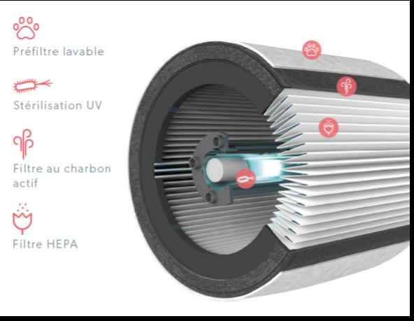 filtre purificateur d'air