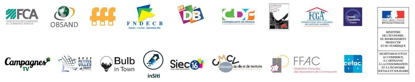 partenaires Journée nationale du commerce de proximité, de l'artisanat et du centre-ville